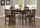 DINING SET - 5PCS SET / CAPPUCCINO VENEER COUNTER HEIGHT    MN-1548