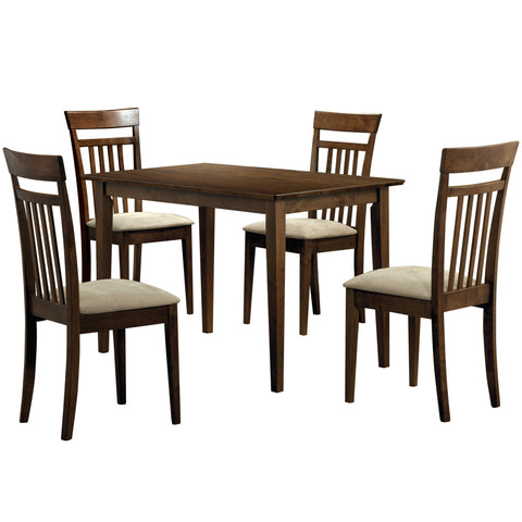 DINING SET - 5PCS SET / WALNUT FINISH  MN-1720