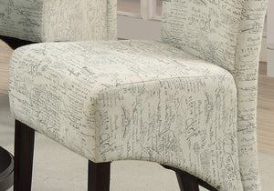 "DINING CHAIR - 2PCS / 40""H / VINTAGE FRENCH FABRIC     MN-1790FR"