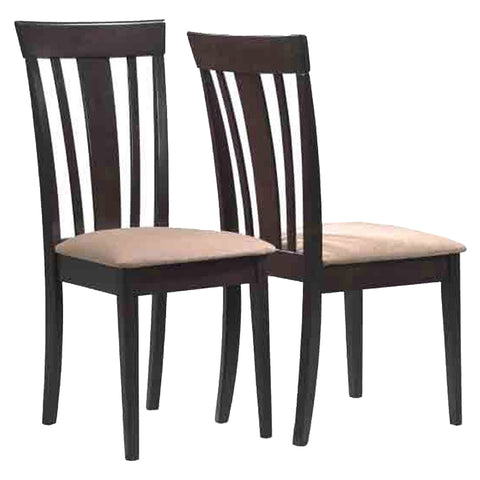 "DINING CHAIR - 2PCS / 38""H / CAPPUCCINO WITH MICROFIBER  I-1898"
