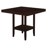 "DINING TABLE - 42""X 42"" / CAPPUCCINO COUNTER HEIGHT  MN-1900"
