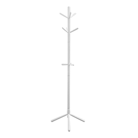 "COAT RACK - 69""H / WHITE WOOD CONTEMPORARY STYLE  MN-2002"