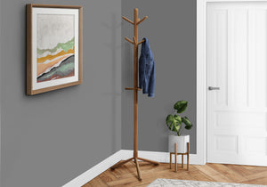 "COAT RACK - 69""H / OAK WOOD CONTEMPORARY STYLE    MN-362003"