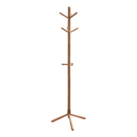 "COAT RACK - 69""H / OAK WOOD CONTEMPORARY STYLE  MN-2003"