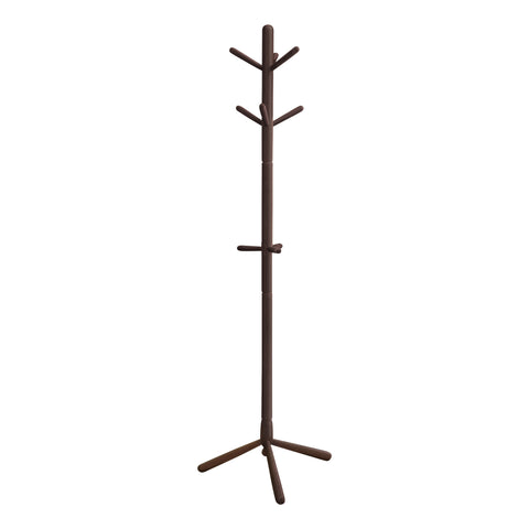 "COAT RACK - 69""H / CAPPUCCINO WOOD CONTEMPORARY STYLE  MN-2004"