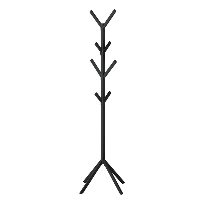 "COAT RACK - 70""H / BLACK METAL    MN-662057"