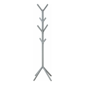 "COAT RACK - 70""H / SILVER METAL    MN-2058"