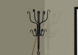 "COAT RACK - 74""H / TRADITIONAL HAMMERED BLACK METAL   MN-2065"