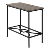 "ACCENT TABLE - 22""H / DARK TAUPE / BLACK METAL  MN-2075"