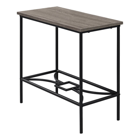 "ACCENT TABLE - 22""H / DARK TAUPE / BLACK METAL  I-2075"