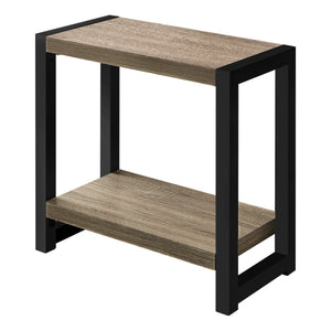 "ACCENT TABLE - 22""H / DARK TAUPE / BLACK METAL    MN-2083"