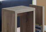 "ACCENT TABLE - 24""H / DARK TAUPE  I-2090"