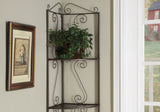 "BOOKCASE - 70""H / COPPER METAL CORNER ETAGERE   MN-2100"