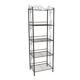 "BOOKCASE - 70""H / COPPER METAL ETAGERE  MN-2103"