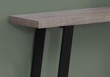"ACCENT TABLE - 48""L / DARK TAUPE / BLACK HALL CONSOLE  MN-2117"