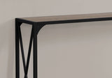 "ACCENT TABLE - 48""L / DARK TAUPE / BLACK HALL CONSOLE  MN-2125"