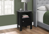 ACCENT TABLE - BLACK / GREY TOP NIGHT STAND WITH STORAGE  MN-2134