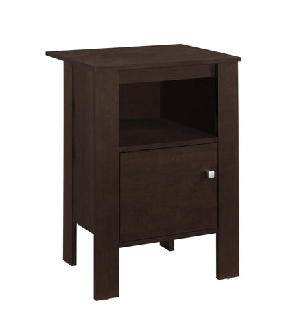 ACCENT TABLE - CAPPUCCINO NIGHT STAND WITH STORAGE  MN-2135