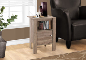 ACCENT TABLE - DARK TAUPE NIGHT STAND WITH STORAGE    MN-2136