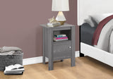 ACCENT TABLE - GREY NIGHT STAND WITH STORAGE  MN-2138