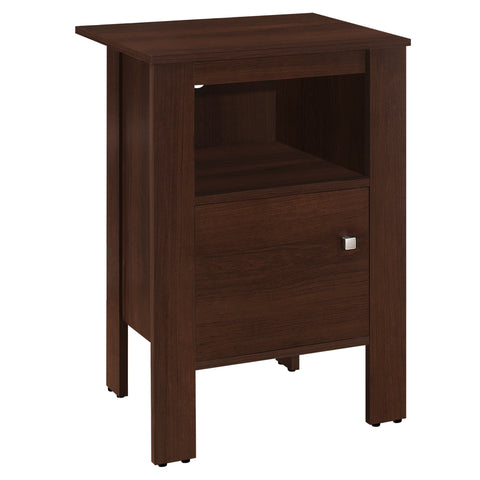 ACCENT TABLE - CHERRY NIGHT STAND WITH STORAGE  MN-2139