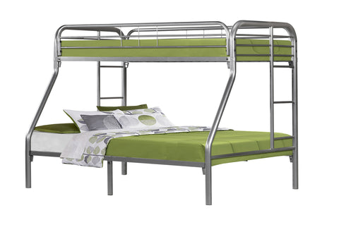 BUNK BED - TWIN / FULL SIZE / SILVER METAL   I-2231S