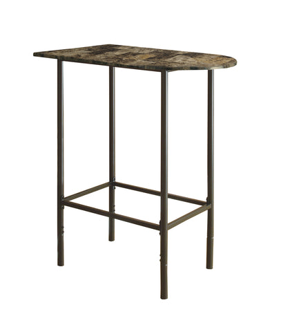 "HOME BAR - 24""X 36"" / CAPPUCCINO MARBLE / METAL  MN-2315"