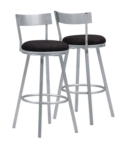 "BARSTOOL - 2PCS / 43""H / SWIVEL / SILVER METAL   MN-2332"