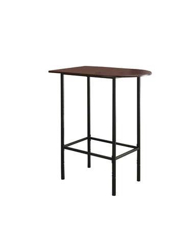 "HOME BAR - 24""X 36""/ CAPPUCCINO / BLACK METAL SPACESAVER   I-2345"