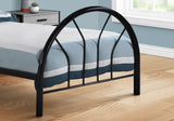BED - TWIN SIZE / BLACK METAL FRAME ONLY  MN-2389B