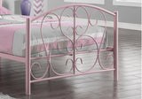 BED - TWIN SIZE / PINK METAL FRAME ONLY  MN-2390P