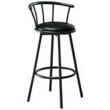 "BARSTOOL - 2PCS / 36""H / SWIVEL / BLACK METAL  MN-2398"