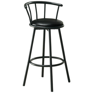 "BARSTOOL - 2PCS / 36""H / SWIVEL / BLACK METAL    MN-632398"