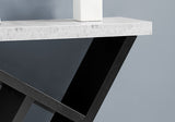 "ACCENT TABLE - 36""L / BLACK / CEMENT-LOOK HALL CONSOLE  MN-2406"
