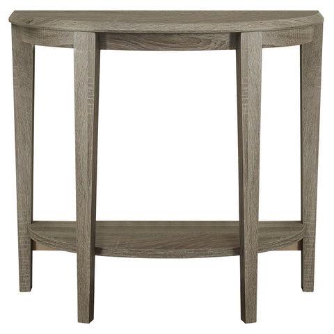 "ACCENT TABLE - 36""L / DARK TAUPE HALL CONSOLE  I-2452"