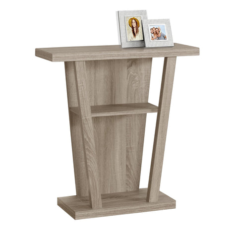 "ACCENT TABLE - 32""L / DARK TAUPE HALL CONSOLE  MN-2453"