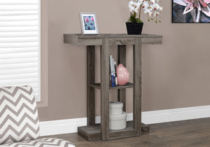 "ACCENT TABLE - 32""L / DARK TAUPE HALL CONSOLE     MN-342456"