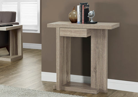 "ACCENT TABLE - 32""L / DARK TAUPE HALL CONSOLE    MN-2459"