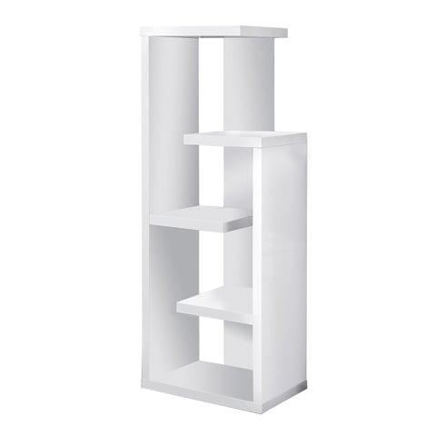 "BOOKCASE - 48""H / WHITE ACCENT DISPLAY UNIT  I-2466"