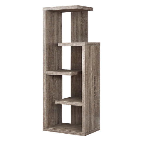"BOOKCASE - 48""H / DARK TAUPE ACCENT DISPLAY UNIT  I-2467"