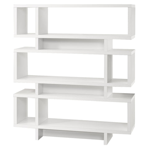 "BOOKCASE - 55""H / WHITE MODERN STYLE  MN-2532"