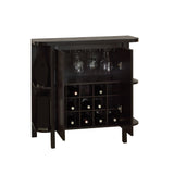 "HOME BAR - 36""H / CAPPUCCINO WITH BOTTLE / GLASS STORAGE  I-2545"