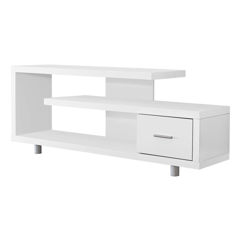 "TV STAND - 60""L / WHITE WITH 1 DRAWER  MN-2573"