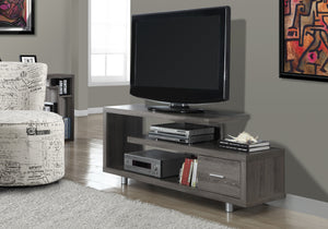 "TV STAND - 60""L / DARK TAUPE WITH 1 DRAWER    MN-842574"