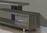 "TV STAND - 60""L / DARK TAUPE WITH 1 DRAWER  MN-2574"