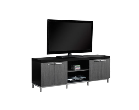 "TV STAND - 60""L / BLACK / GREY   MN-2590"