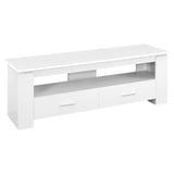"TV STAND - 48""L / WHITE WITH 2 STORAGE DRAWERS  MN-2601"
