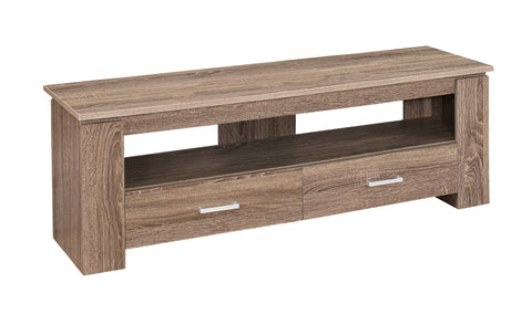 "TV STAND - 48""L / DARK TAUPE WITH 2 STORAGE DRAWERS  I-2602"
