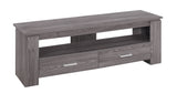 "TV STAND - 48""L / GREY WITH 2 STORAGE DRAWERS  I-2603"