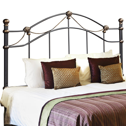 BED - QUEEN OR FULL SIZE / BLACK HEADBOARD OR FOOTBOARD   MN-2621Q
